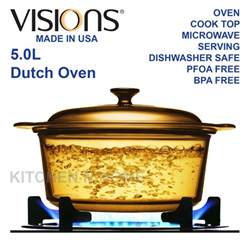 Kitchen Knives Henckels Visions 5 0l Glass Oven Casserole Cook Pot Glass Cookware