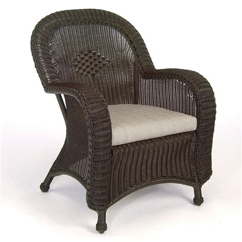 outdoor resin wicker arm chair frontgate