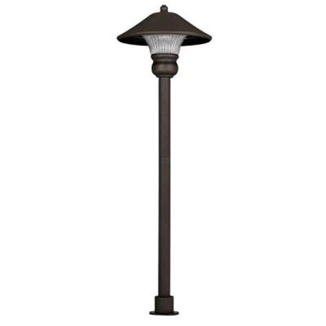 hton bay low voltage bronze outdoor led path light