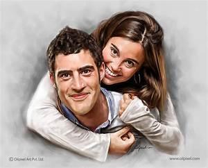 Couple Portrait Digital Painting Oilpixel A Digital Portrait Painting Studio