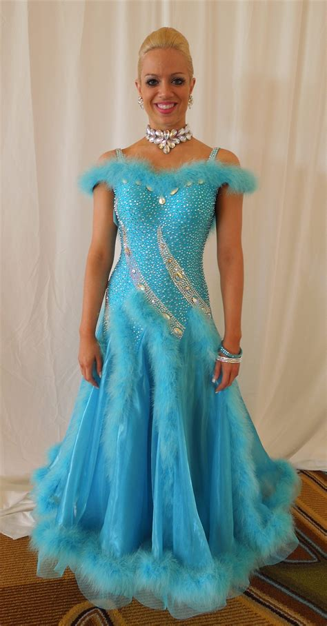 princess cinderella korean yarn blue swarovski ballroom dress