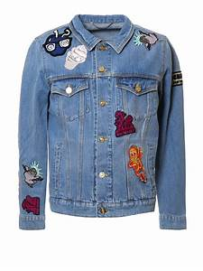 Patch detail denim jacket by Kenzo - denim jacket | iKRIX