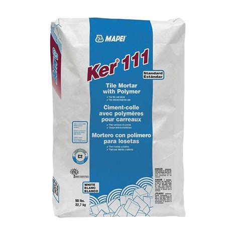 mapei ker 111 50 lb white mortar with polymer 0060045