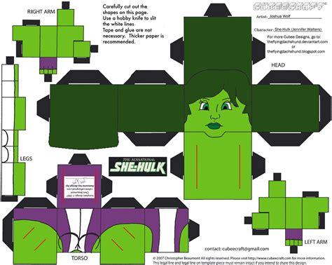 hulk paper toy  printable papercraft templates
