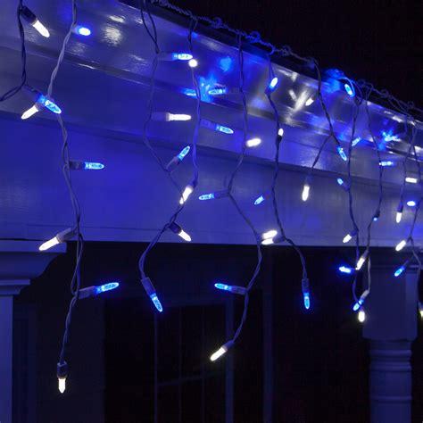 led christmas lights   blue  white led icicle lights