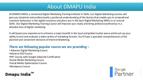 digital marketing in delhi advance digital marketing demo session in delhi