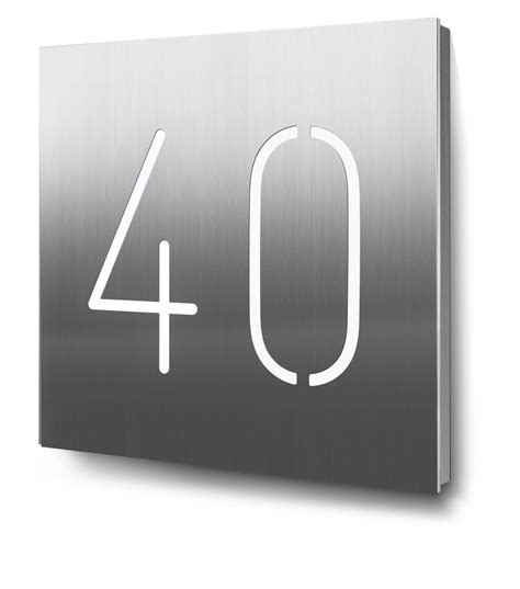 hausnummer edelstahl beleuchtet hausnummer edelstahl modern wohn design