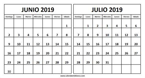 calendario junio julio