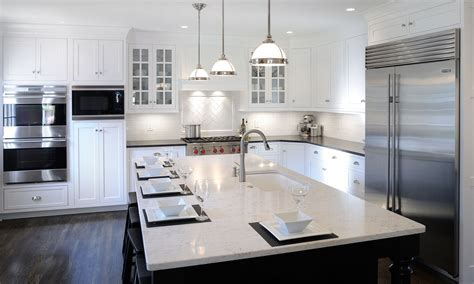 Mullet Cabinet — White Transitional Kitchen