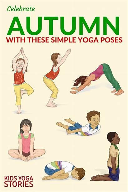 Yoga Poses Easy Autumn Stories Kid Printable