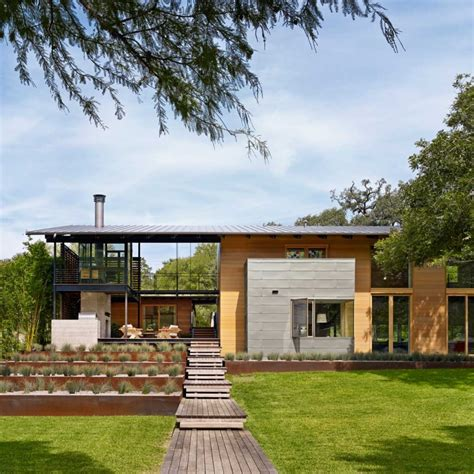 Modern Architecture Connected To Nature Hog Pen Creek