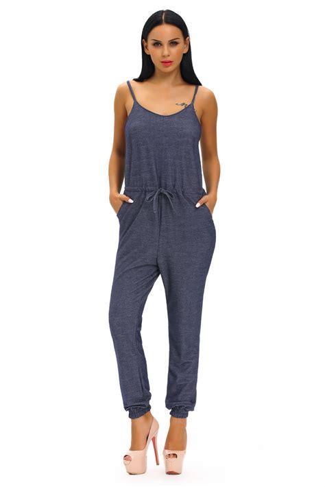 blue jumpsuit womens affordable blue stylish womens sleeveless denim jumpsuit