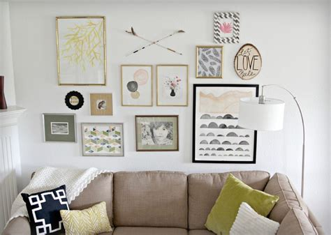 Houzz Living Room Wall Decor by Modern Gallery Wall Modern Living Room Kansas City