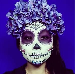 Tete De Mort Mexicaine Femme : 1001 id es maquillage squelette mexicain l 39 art du ~ Melissatoandfro.com Idées de Décoration