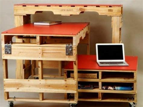 faire un bureau soi meme bureau en palette modèles diy et tutoriel pour le