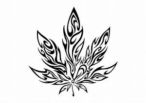 Tatouage Weed Tribal