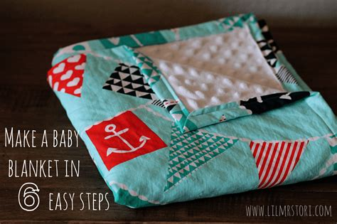 how to make a baby quilt make a baby blanket in 6 easy steps grant designs