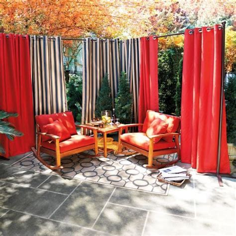 25 best ideas about outdoor curtain rods on