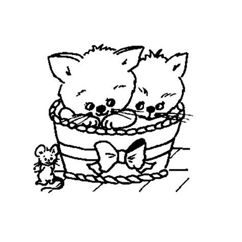 Kleurplaat Kttens katten kleurplaten kleurplatenpagina nl boordevol