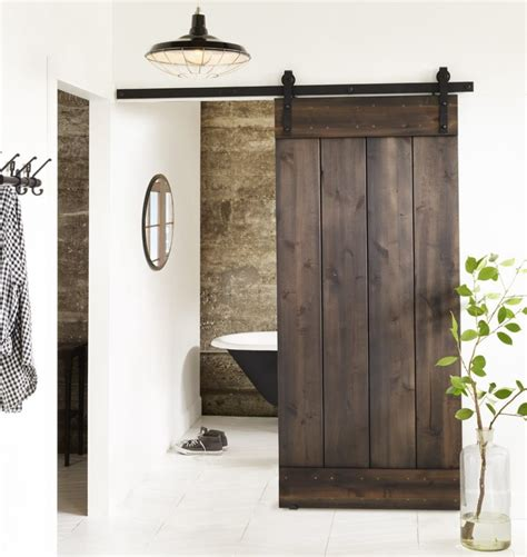 bring  country spirit   home  interior barn doors