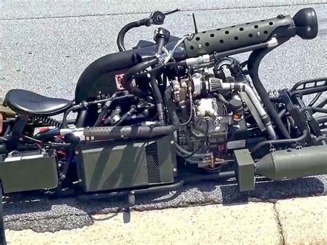 diesel motorrad twin turbo eigenbau und laeuft genial