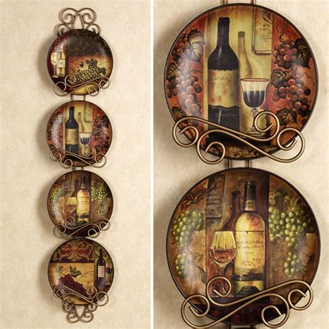 wine themed kitchen set majestic grape plate set set of four wine and grapes