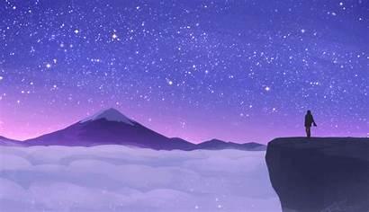 Aesthetic Shooting Anime Space Animated Scenery Purple