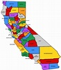 california road map counties in california map with cities ...