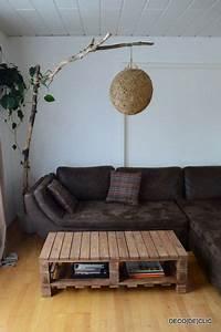 Lampe En Palette : avec des palettes en bois recherche google id e d co palette bois lampadaire diy et lampe ~ Voncanada.com Idées de Décoration