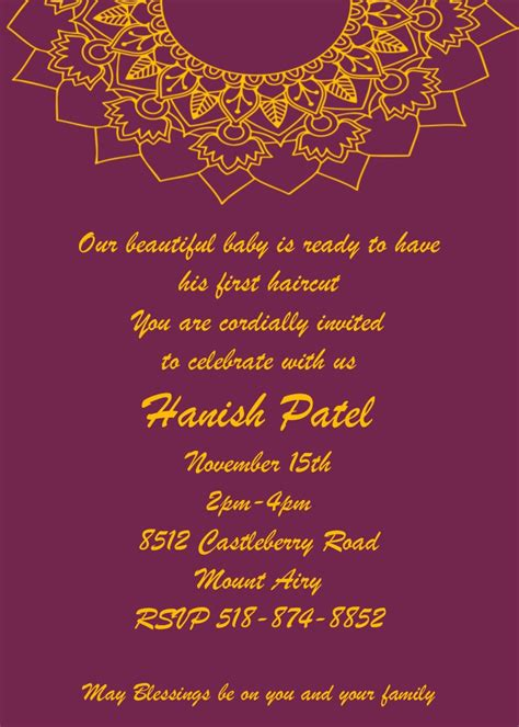 mundan ceremony decoration mundan or chadakarana ceremony invitations new selections