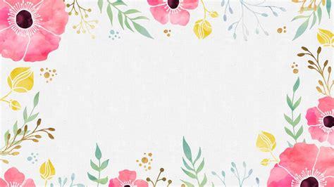Border Wallpaper Desktop by Watercolor Flowers Desktop Wallpaper Things I Like In