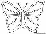 Coloring Insects Butterfly Butterflies Print Pages Printable Butterfly2 Bigactivities Activity Simple sketch template