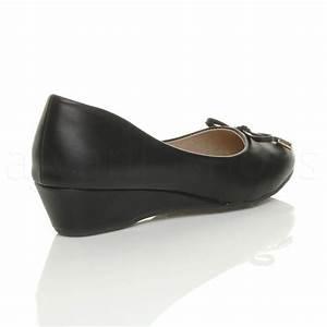 Schuhe Zu Klein : damen klein mitte keilabsatz arbeit schleife ballerina schuhe pumps gr e ebay ~ Orissabook.com Haus und Dekorationen
