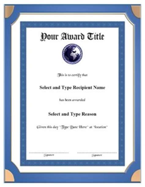 blue double border certificate template vertical