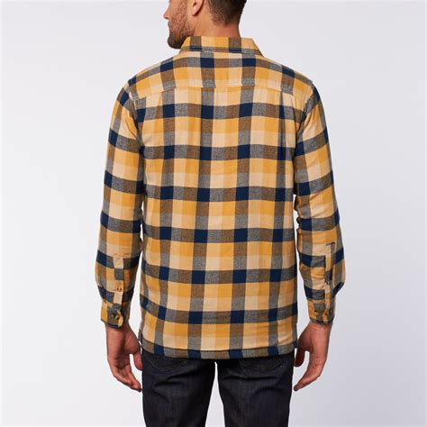 Flannel Shirt Jacket // Yellow + Blue + Khaki (S) - Stanley - Touch of Modern