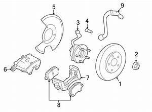 Pontiac G6 Brake Hydraulic Hose  Left  Front  Make