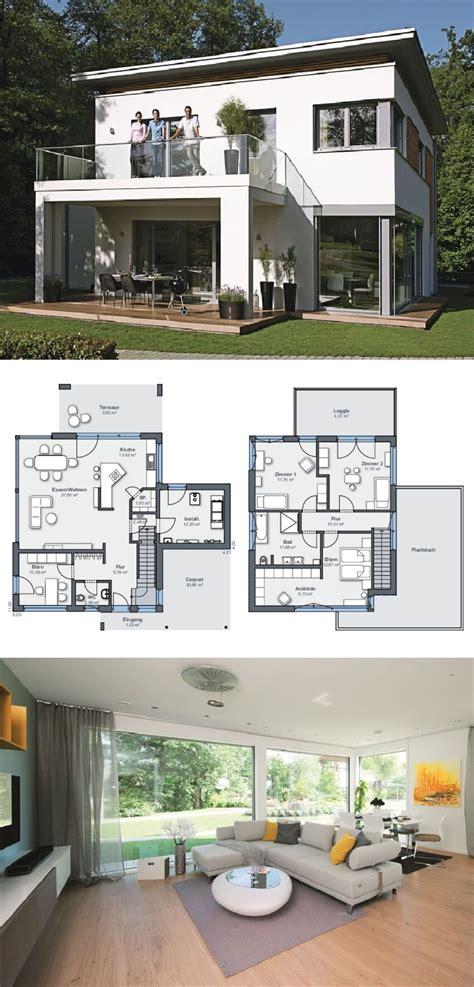 Moderne Haus Planung by Einfamilienhaus Architektur Modern Mit Flachdach Und
