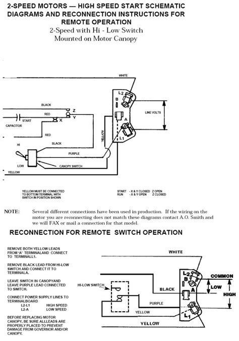 Schematic Of 3 4 Hp Motor Wiring by Ao Smith 2 Speed Motor Wiring Diagram Fuse Box And