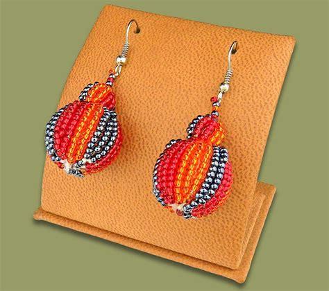 Bobble Earrings earrings bobble bobble earrings orange metallic