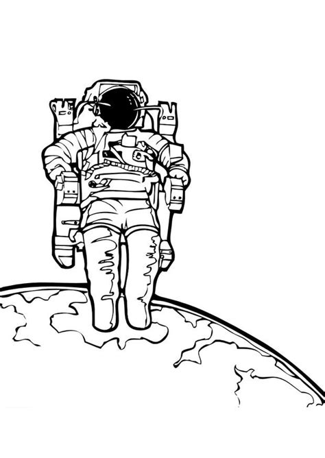 coloring page astronaut  printable coloring pages