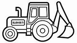 Excavator Coloring Pages Digger Colouring Truck Draw Popular sketch template