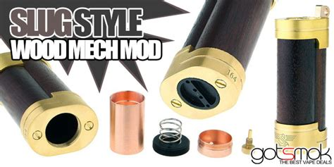 slug style wood mechanical mod  vape deals
