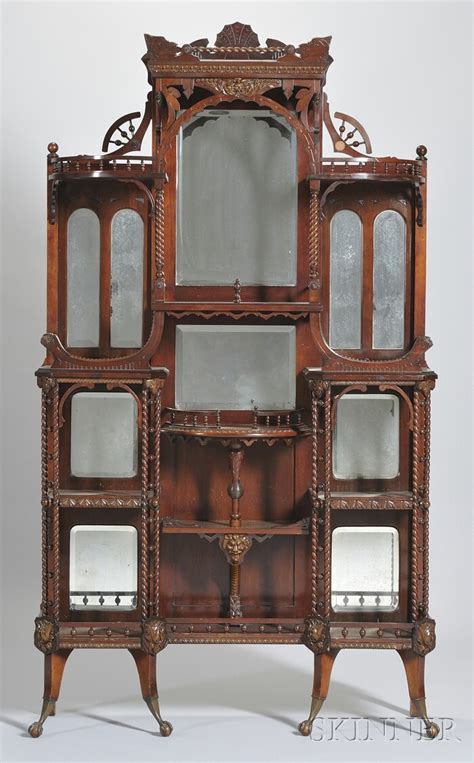 Cherry Etagere by Victoriana Antiques And Furniture At Auction