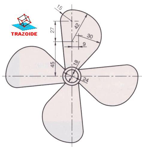 Barco Dibujo Tecnico helices de barco trazoide