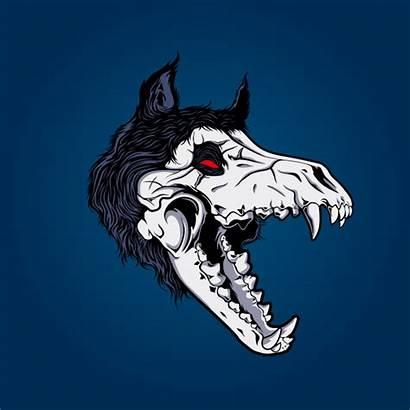 Skull Wolf Vector Tribal Premium Creative Howl