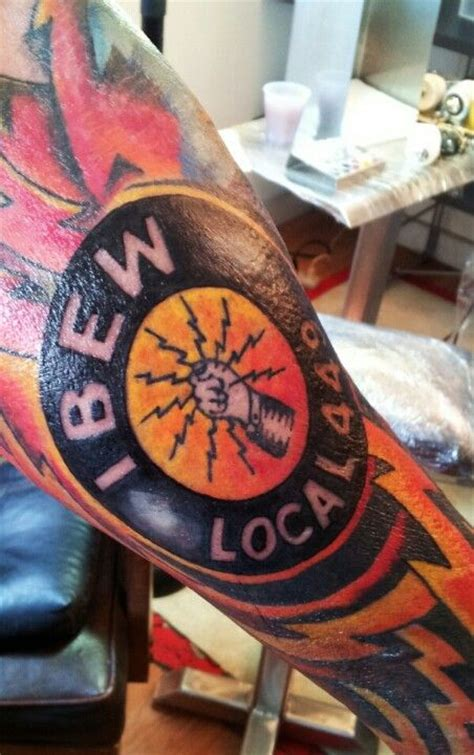 electrician tattoos ibew logo electrical sleeve tattoo latest work