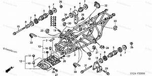 Honda Atv 2004 Oem Parts Diagram For Frame  Trx500fa U0026 39 01