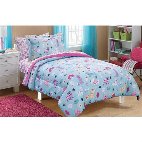 New! Puppy Dog Love Bed In A Bag Bedding Comforter Sheets