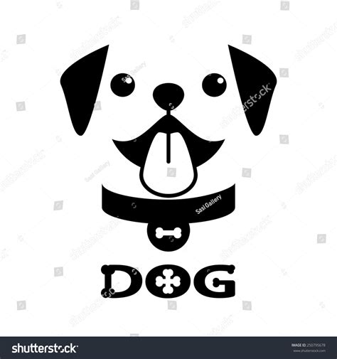 Smiling Pitbull Puppies On White Background. Symbol Icon ...