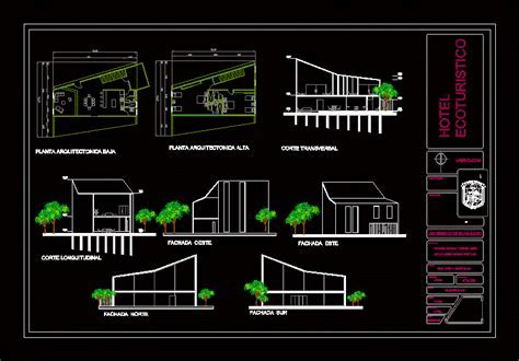 Cottage For 4 8 People 2D DWG Design Section for AutoCAD